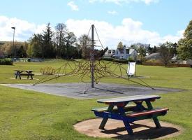 Memorial park climbing frame