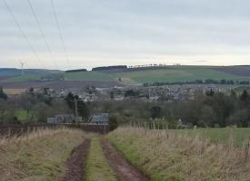 Road into Laurencekirk