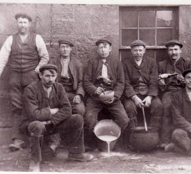 Bothy lads at Bent farm Laurencekirk