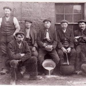 Bothy lads at Bent farm Laurencekirk