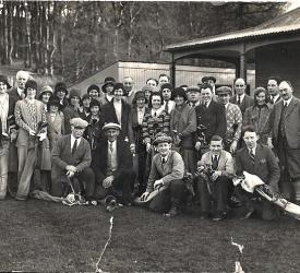 vintage Laurencekirk golfers
