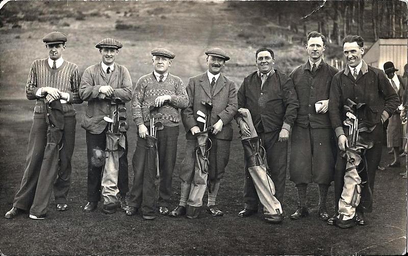 vintage Laurencekirk golfers men
