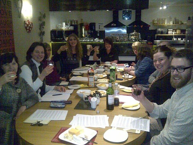 LBC members enjoying cheese and wine at last month's AGM.